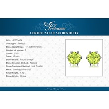Natural Peridot Earrings Stud Genuine 925 Sterling Silver Jewelry Fabulous Vintage Gemstone Jewelry