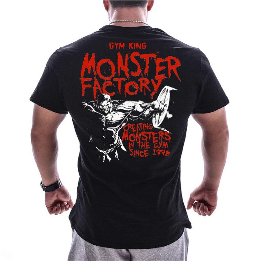 Homens correndo esporte algodão camiseta ginásio de fitness musculação magro impressão t camisa verão masculino jogging treinamento t topos roupas