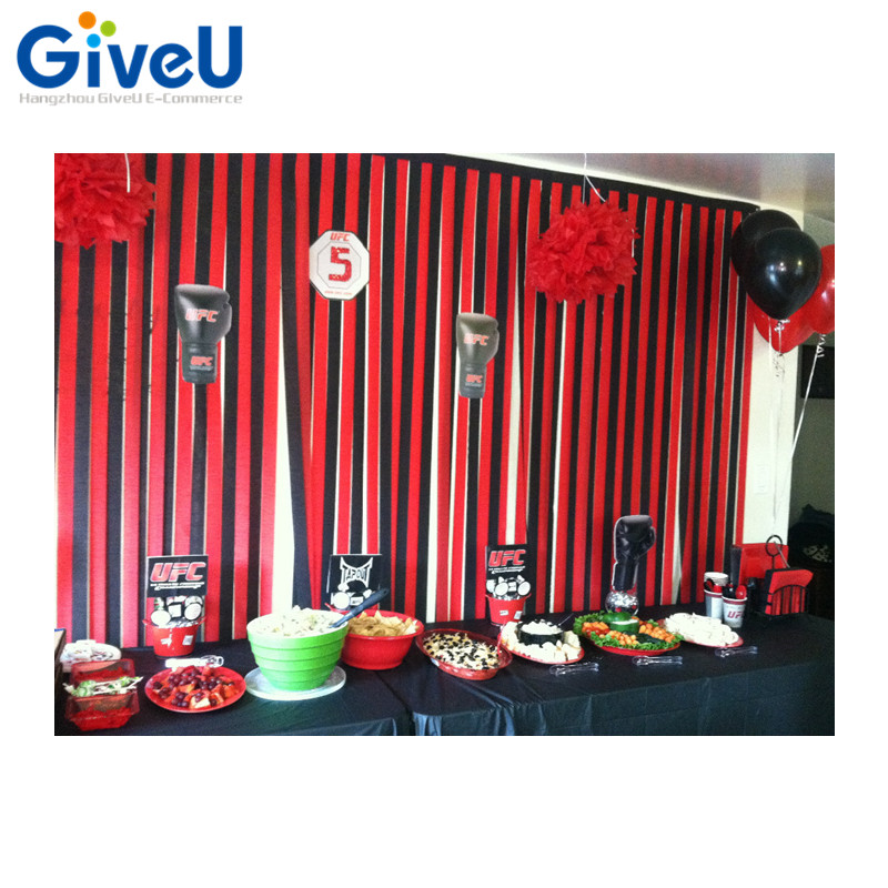 GiveU Hot Casino Party Decorations Crepe Paper Streamer
