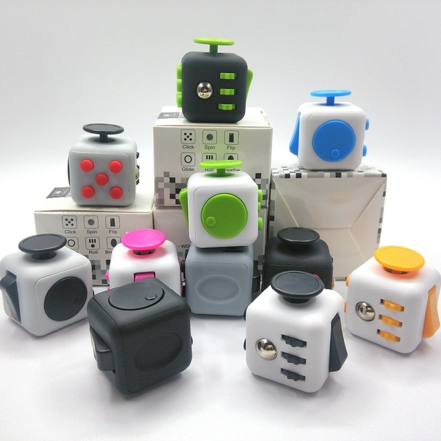 Original Quality Size 3 3cm Fidget Cube Vinyl Desk Toy Anti