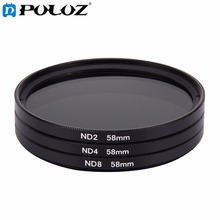 58mm Lens Filter ND Filter Kits (ND2 + ND4 + ND8) for GoPro & Xiaomi Xiaoyi Yi & SJCAM Sport Action Camera