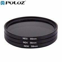 58mm Lens Filter ND Filter Kits (ND2 + ND4 + ND8) for GoPro & Xiaomi Xiaoyi Yi & SJCAM Sport Action Camera