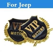 2017 car styling Wheat Car logo sticker rear decorate badge Side Fender emblem For Jeep Liberty Renegade Wrangler Commander