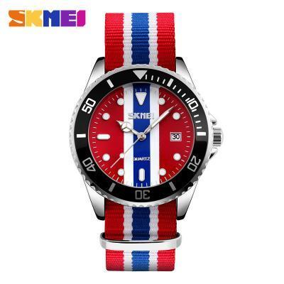 SKMEI 9133 Men Quartz Wristwatches Fashion Casual Watches Nylon Band Auto Date Relogio Masculino Clock Stylish Sport Mens Watch