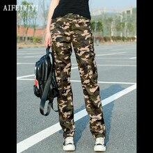 Весенняя женская спортивная форма, военные камуфляжные брюки-карго, армейские джинсовые комбинезоны, женские прямые брюки с несколькими карманами