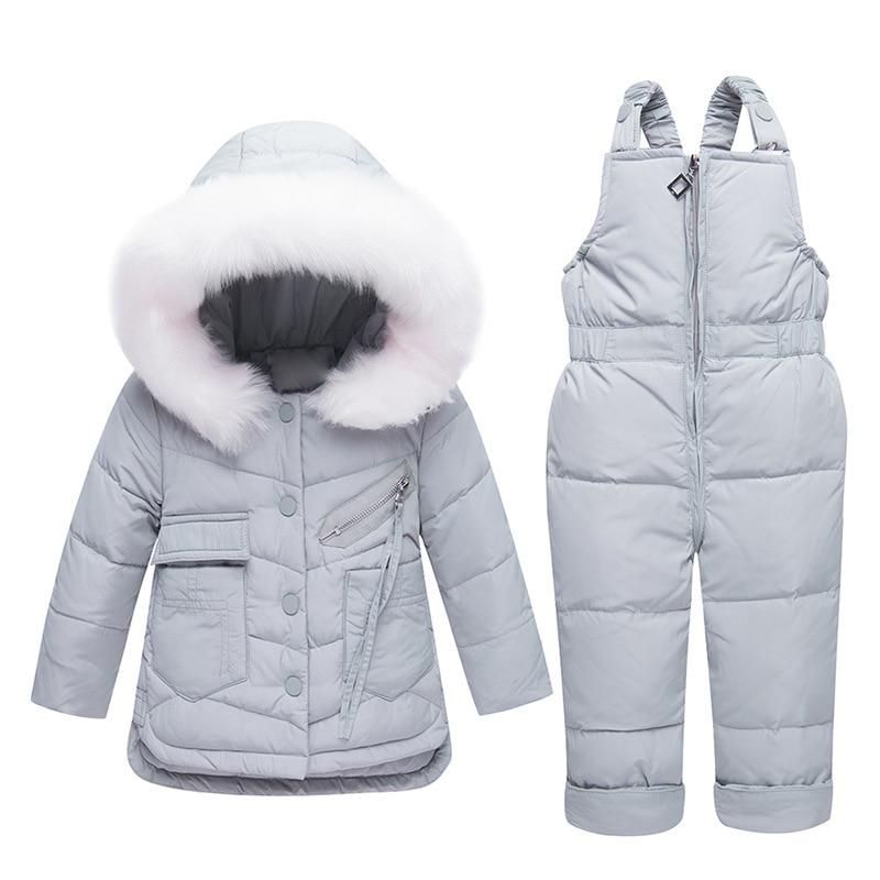 30917d600 Winter children Clothing Set Baby Down Jacket for Girls Boys Coat + ...