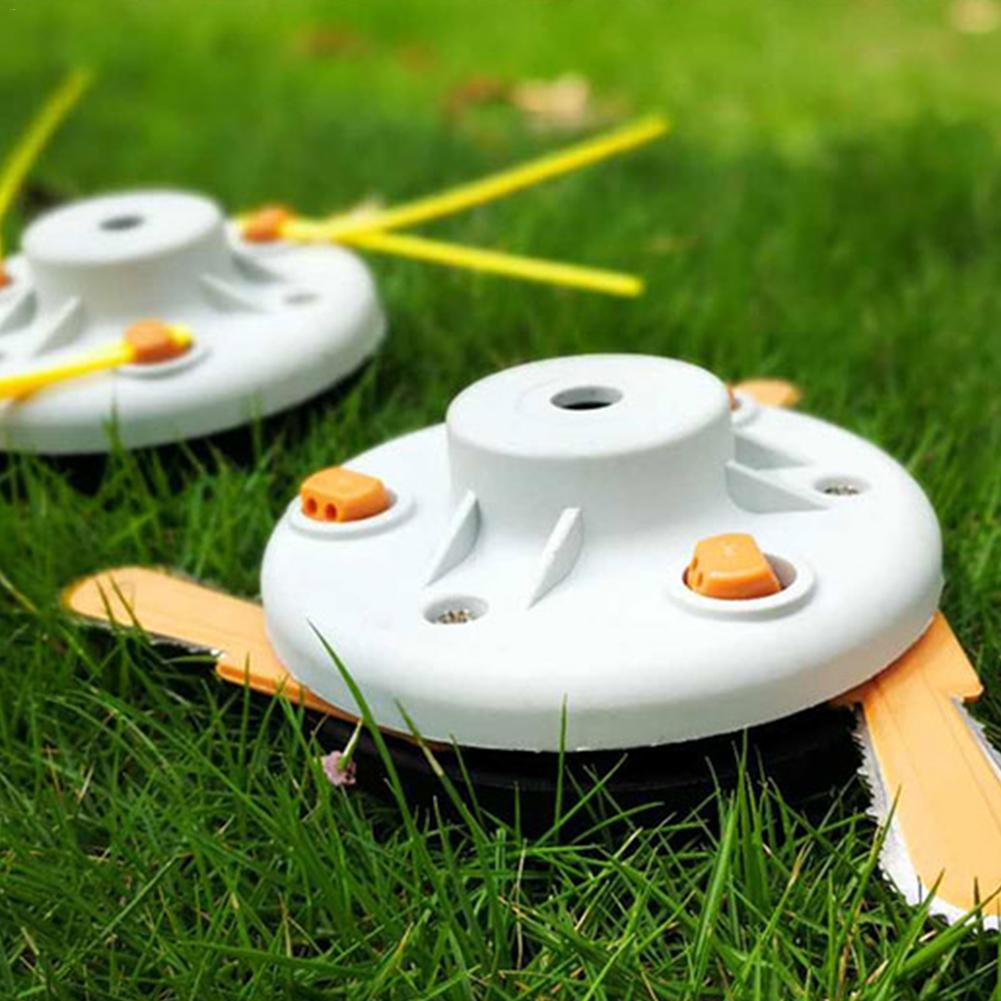 Dual-use Hay Mower Head Mower Blade Nylon Weeder Work Head With Blade Garden Mower Accessories Garden Power Tools