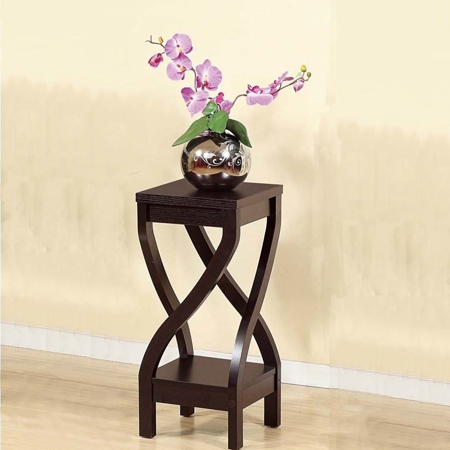 Elegant Design Small Size Plant Stand, Dark Brown adriatica a3141 1263q