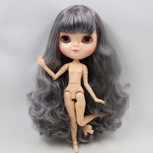 ICY Neo Blythe Doll Grey Light Purple Hair Azone Jointed Body 30cm