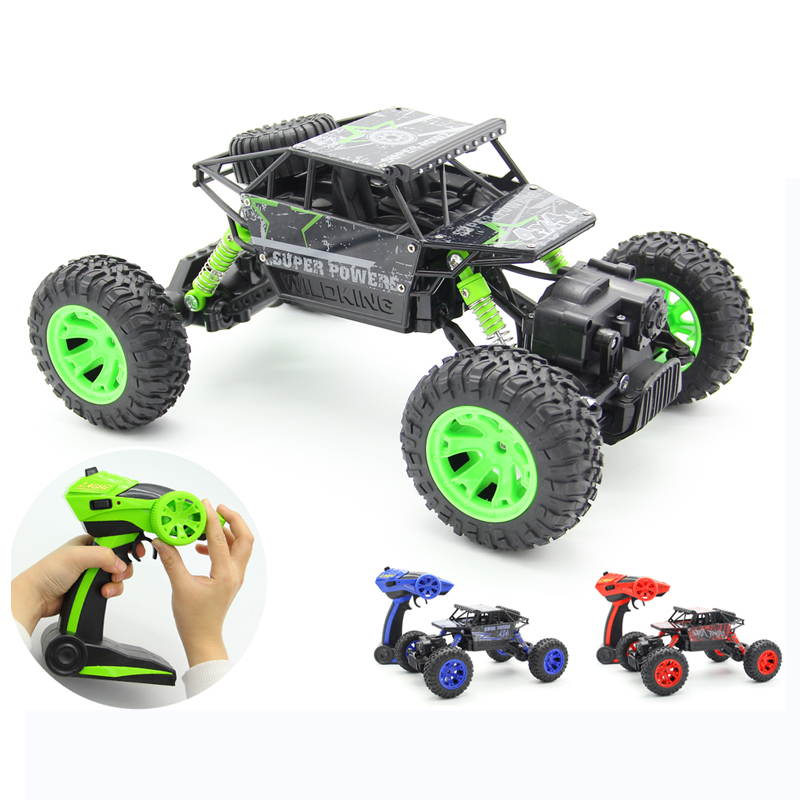 RC Car 4WD 2.4GHz 1:18 Climbing Car 4x4 Double Motors Bigfoot Car Remote Control Model Off-Road Vehicle Toy For Boys Kids Gift