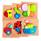 Cartoon 3D Baby Wooden Animal Puzzle Toys For Children Kids Educational Didactic Games Baby Puzzle Toys Baby Speelgoed