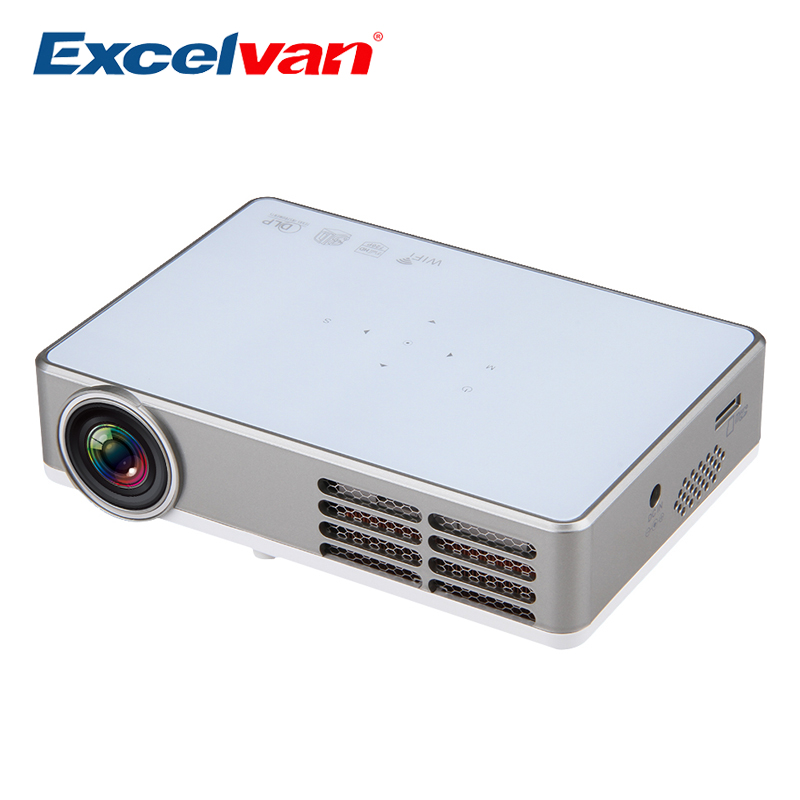 Excelvan led9 android 4 4 dlp mini projector wireless wifi for Hd projector small