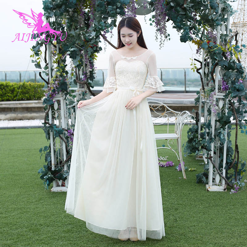 AIJINGYU 2018 sexy prom   dresses   women's gown wedding party   bridesmaid     dress   BN362