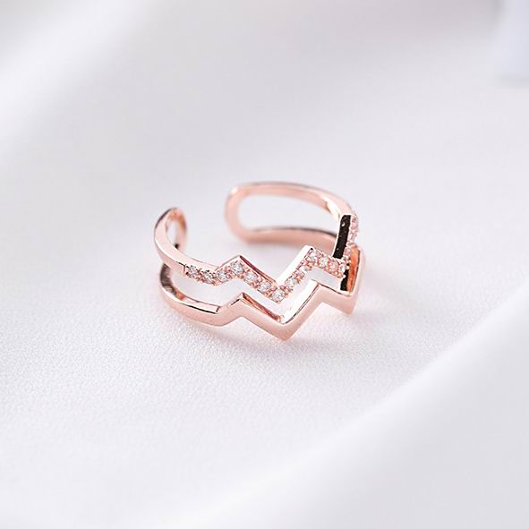 Contemplative Mengjiqiao 2018 New Korean Women Fashion Double Wave Open Ring Shiny Cubic Zirconia Micro Paved Finger Rings Wedding Jewelry Back To Search Resultsjewelry & Accessories