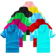 b74222959 2-10Y Kids Boys Polo Shirts Summer Top Boys Short Sleeve T-Shirt Solid  Lapel Kids Casual Fashion T-shirts For Boy Girls Clothes