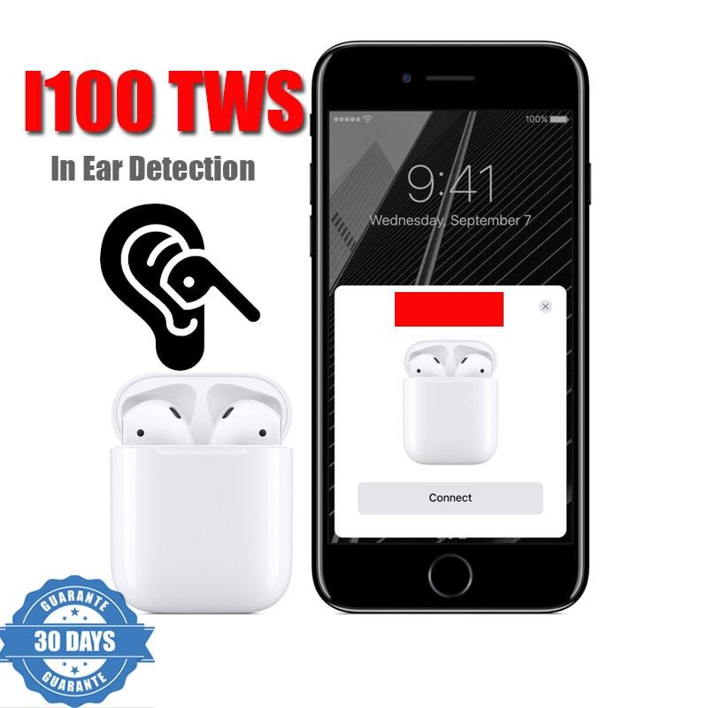 Original i100 TWS dans la détection d'oreille sans fil 5.0 Air utilisation séparée capteur intelligent i80 tws i60 tws i30 tws killer