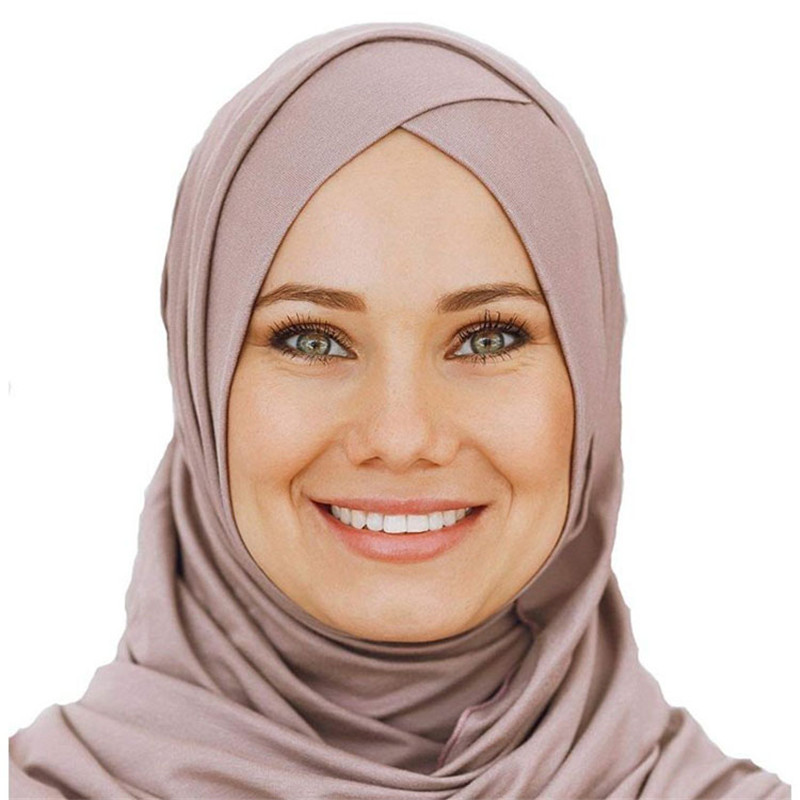 2019 Women's Elegant Modest Muslim Islamic Scarf Ramadan Soft Lightweight Jersey Instant Hijab Long Headscarf Easy Ready To Wear
