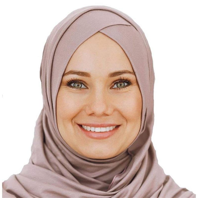 2019 Women's Elegant Modest Muslim Islamic Scarf Ramadan Soft Lightweight Jersey Instant Hijab Long Headscarf Easy Ready To Wear
