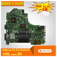 For ASUS K56CB Laptop Motherboard REV2.0 with I7-3537U CPU Graphics GT740 K56CM mainboard 100% Tested