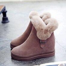Abedake брендовые зимние женские сапоги на снежную погоду Короткие полусапожки на плоской подошве Нескользящие зимние ботинки из воловьей кожи на молнии Теплые ботильоны женские зимние ботинки