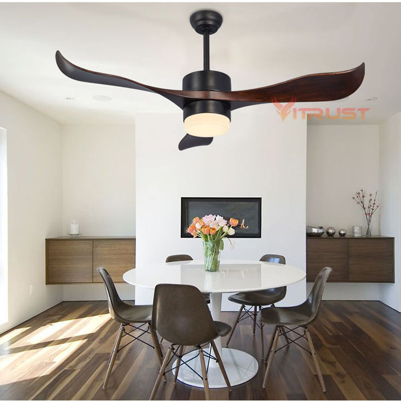 52 дюймов творческий вентилятор света село потолочных вентиляторов светодио дный свет для Обеденная минималистский потолочный вентилятор ...