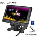 TFT LCD 800x480 720 P 7 Pulgadas de Coches Aparcamiento Monitor de Vídeo con 2 entrada de Coche MP5 Video Player Soporte SD USB Flash, Construido en el Altavoz