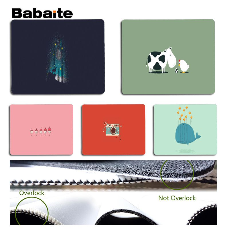 Babaite Personalized Cool Fashion Illustration style mouse pad gamer play mats Size for 180x220x2mm and 250x290x2mm Mouse Pad