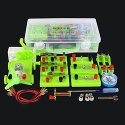 Circuito básico de eletricidade magnetismo aprendizagem kit física aids crianças educação brinquedo blocos kit engraçado brinquedo de desenvolvimento de física