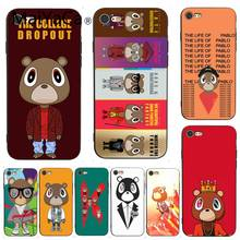 MaiYaCa 7 6 Kanye West Graduation Bear Painted for iPhone X 6s 7plus 8  8Plus 5C SE ba34c9c5915f