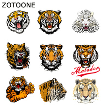 ZOTOONE Tiger Patches Heat Transfer Animal Iron on Patches for Clothing Iron on Letters Beaded Applique Clothes DIY Accessor E