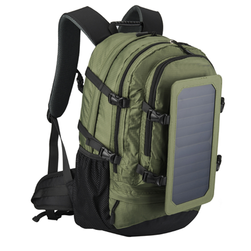 35L IP67 Solar Backpack Men and Women Polyester Travel Shoulder Bag Cell Phone Charger Solar Bag
