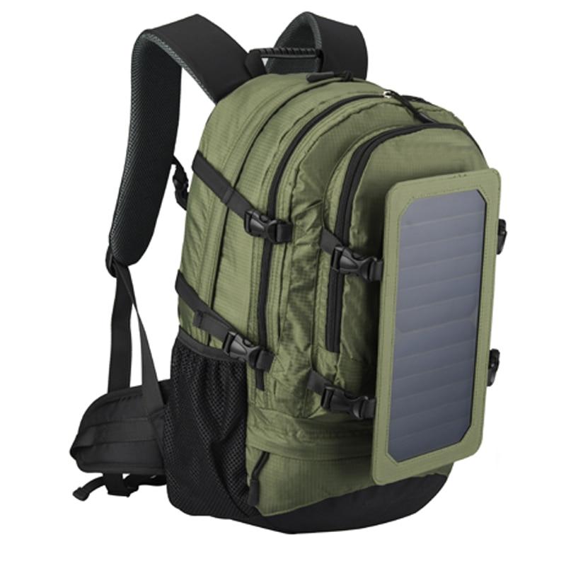 35L IP-67 Solar Backpack Men And Women Polyester Travel Shoulder Bag Cell Phone Charger' Solar Bag Sunpower Laptop Bag