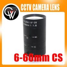 6 60 мм 1/3 дюйма CS объектив для камеры видеонаблюдения IR F1.6 ручной зум ручная Радужка для IP CCTV CCD камеры