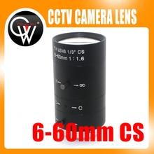 "Neue 6 60mm 1/3 ""CS CCTV Objektiv IR F 1,6 Manuelle Zoom Manuelle Iris CS MOUNT für IP CCTV CCD Kamera BOX USB KAMERA"