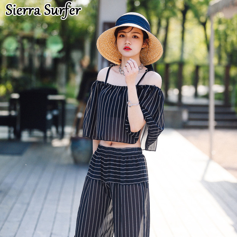 Swimming Suit For Women Sexy Swimsuit Bikini Top Xxl Beach Wear Retro Beachwear 2018 Female Three Piece Temperamental Stripes 2018 direct selling springs swimming clothes bikini three pieces of small breasts the steel sexy shading thin korean swimsuit