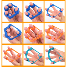 1pcs Silica gel Finger Crossfit Resistance Band Stretcher Hand Exerciser Grip Strength Workout Training Elastic band for fitness