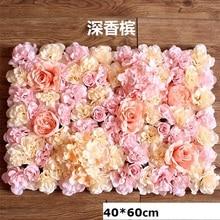 40x60cm ipek gül çiçek duvar düğün dekorasyon zemin şampanya yapay çiçek çiçek duvar romantik düğün dekor