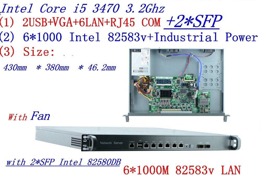 1U 6*1000 M I5 3470 3.2 GHZ processeur Wechat marketing WIFI routes publicitaires gestion AC pare-feu vpn pfsense