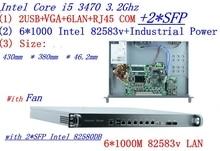 1U 6*1000M I5 3470 3.2GHZ processor Wechat marketing WIFI advertising routes AC Management vpn firewall pfsense