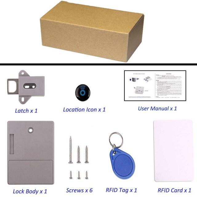 SHGO Invisible cach RFID ouverture libre capteur Intelligent armoire serrure casier armoire chaussure armoire tiroir serrure