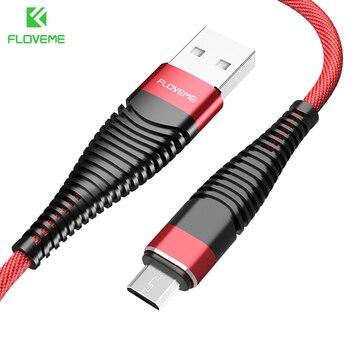 FLOVEME Hi-tracción para Lightning/Micro USB Cable 1 M Durable Nylon trenzado sincronización de datos Cables para iPhone X 5 6 Cable