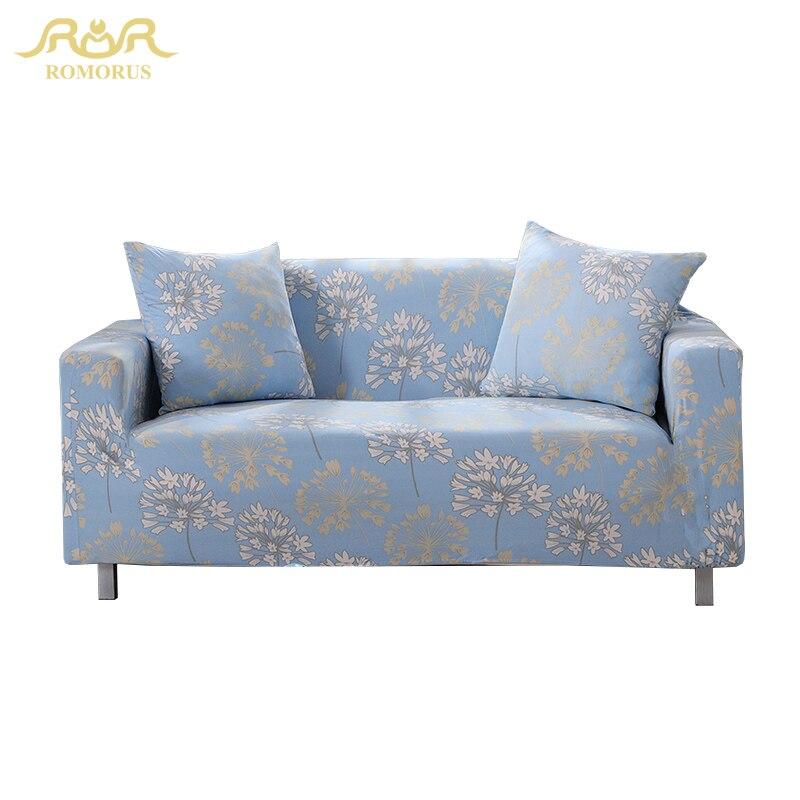ROMORUS Dandelion Soft Flexible Stretch Sofa Cover Big Elasticity Couch  Cover Slipcover Furniture Protector Modern Para