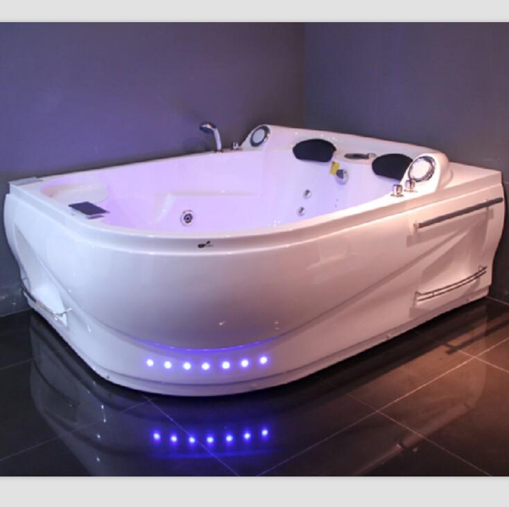 Two Persons Acrylic Massage Bathtub Jacuzzi Function Spa Banheira Tub