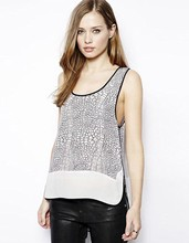 Leopard Women Vest Sleeveless Chiffon Shirt Plus Size Blouse Casual Tank Tops Summer