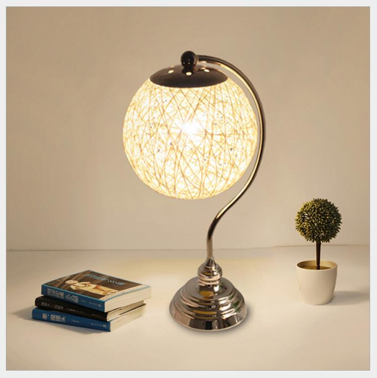 ФОТО New Hot Sale Modern Table Lamps Led E27 Bulb Christmas Home Decoration Living Room Bedroom Study Light Fixture Desk lamp