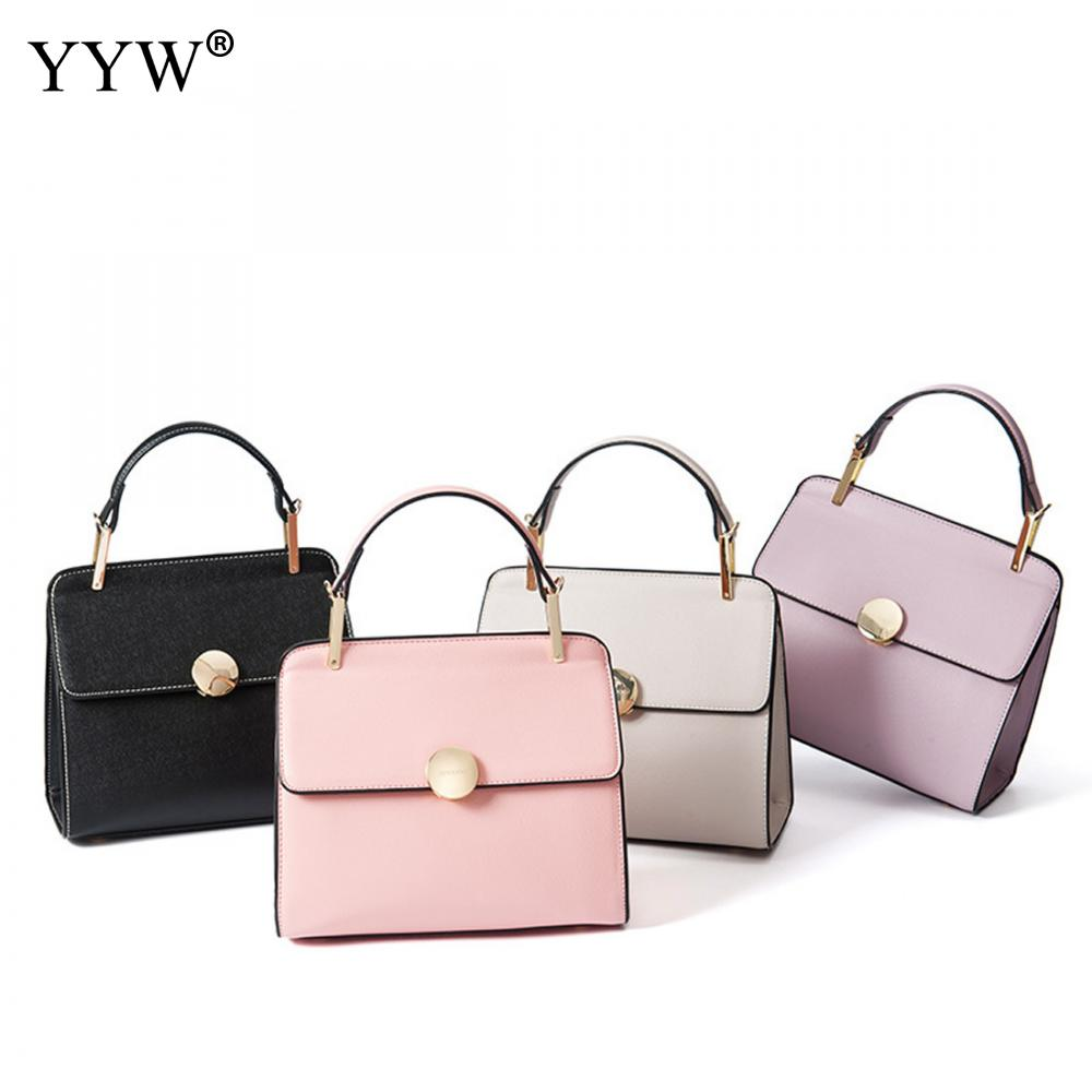 2017 Casual Metal Handle Small Handbags Hotsale Laides Purse Famous Brand Women Evening Clutch Bags Pink Black Leather Handbag