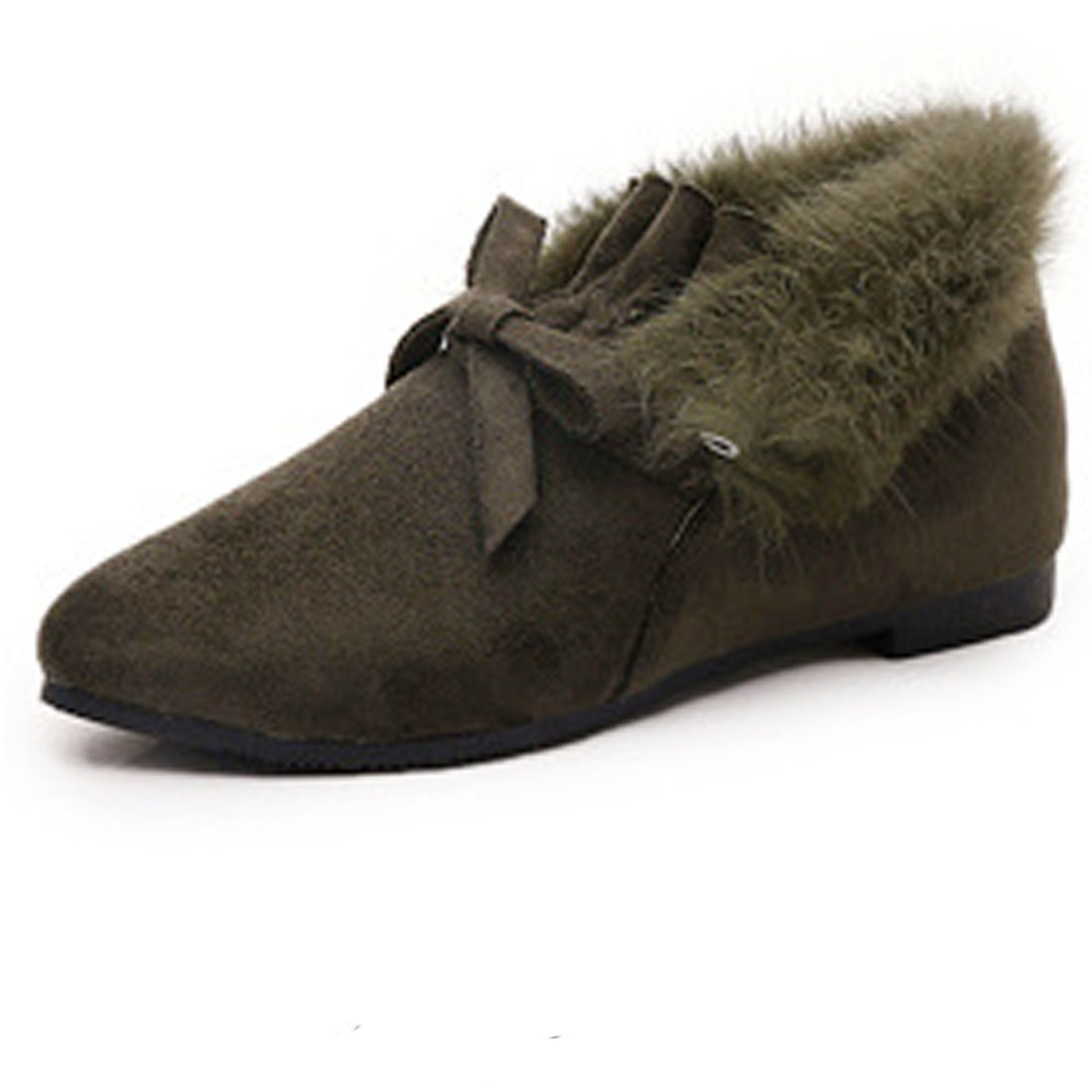 Fashion Women Winter Shoes Snow Boots Warm Faux Suede Pointed Toe Fur Line Loafers Flats Ladies Casual Slip On zapatos de mujer