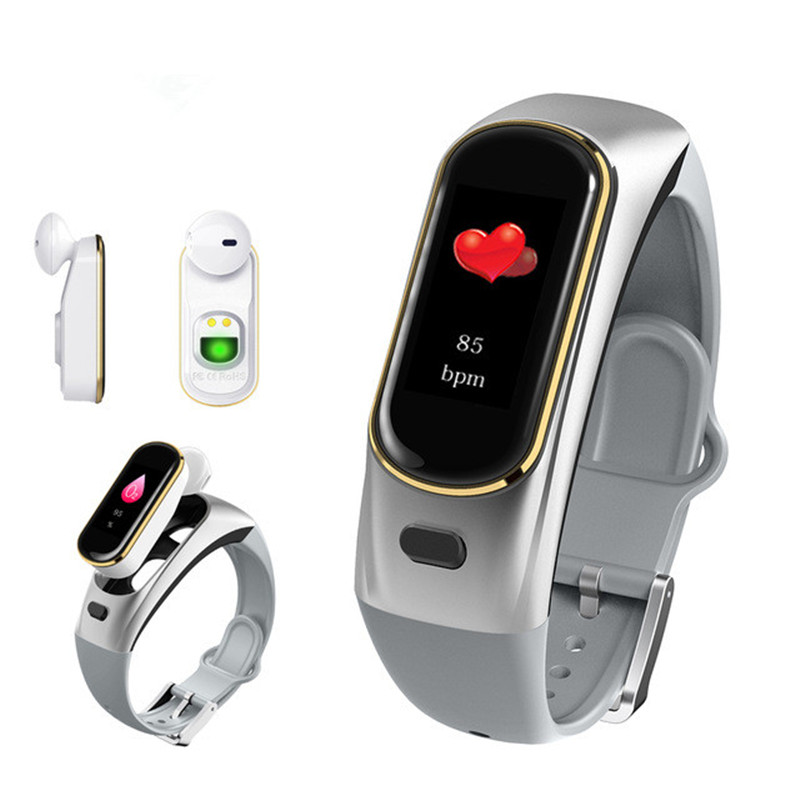 H109 Talkband Smart Bracelet Wireless Bluetooth Call Headset for Huawei Samsung Phone With Heart Rate Monitor