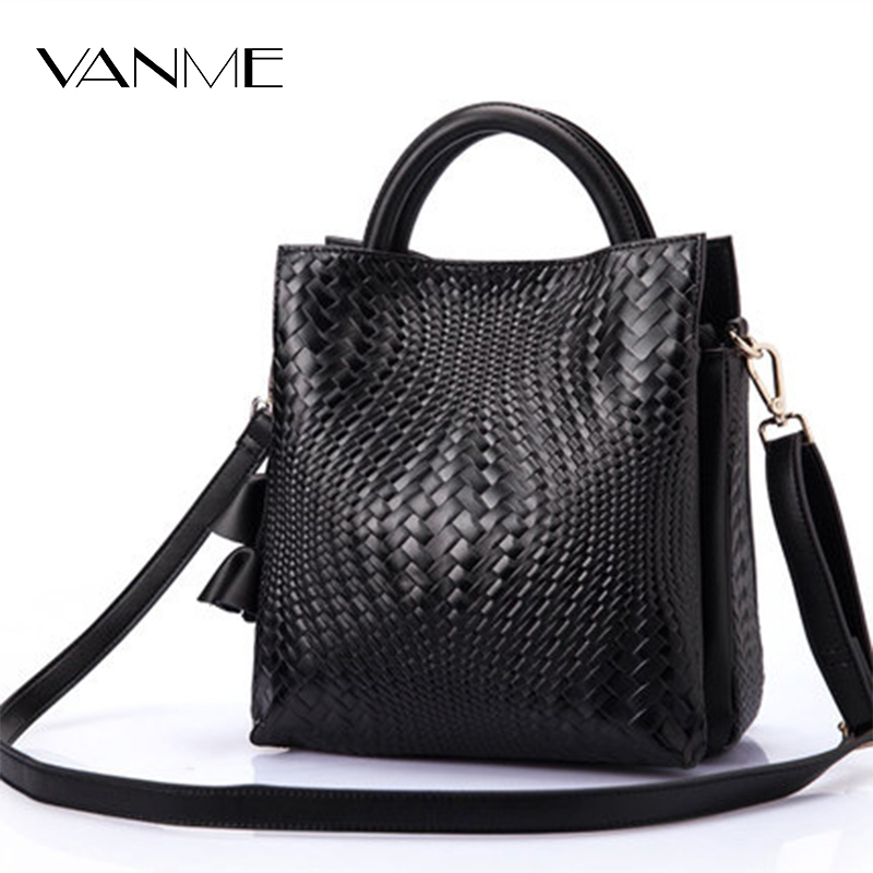 Hot Sale Simple Bucket Shoulder Bags Solid Big Handbag Woven Fashion Messenger Bags Female High Quality Leather Women Bag Ladies hot sale leather fashion women messenger bags handbag shoulder bag sailor tsukino usagi clutch casual female gift pouch vintage
