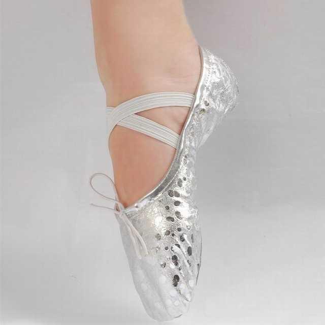 7f192d7d43b placeholder New Gold Silver Size 23~44 Children Soft Sole Girls Flats Shoes  Women Ballet Shoes